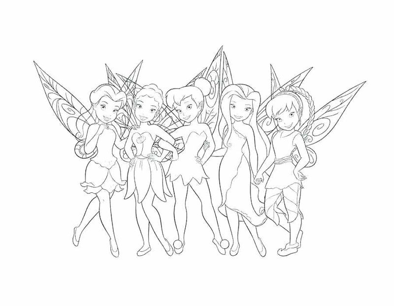 disney tinkerbell printable coloring pages