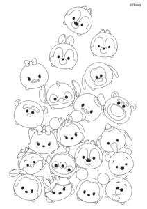 disney tsum tsum coloring pages black and white