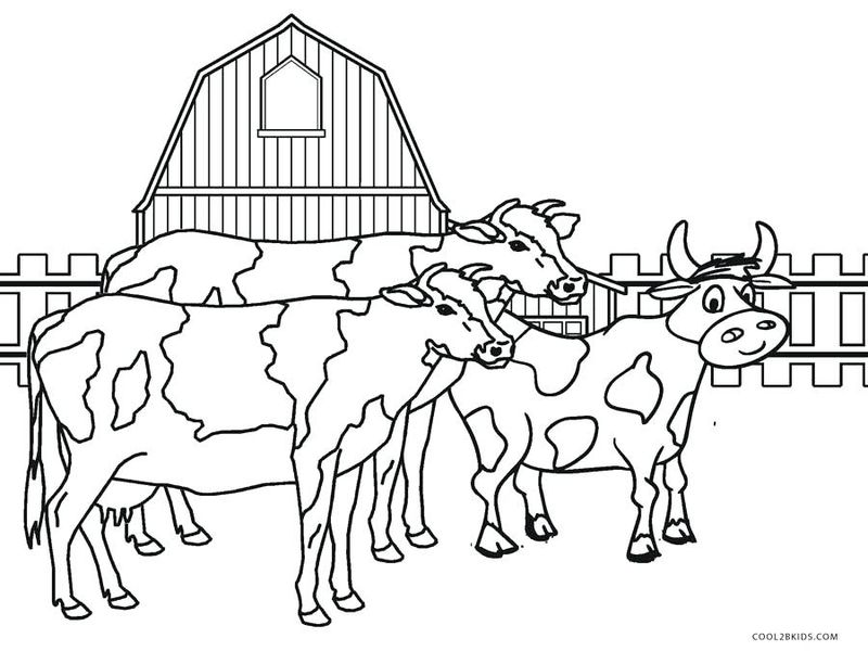 down on the farm coloring pages