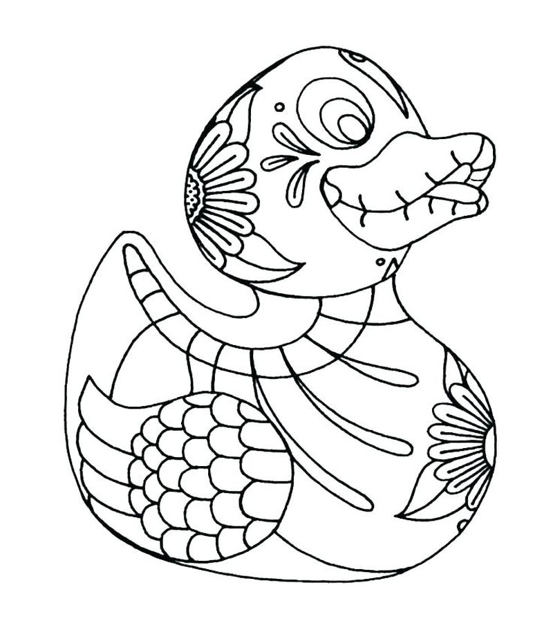 duck in a truck coloring pages