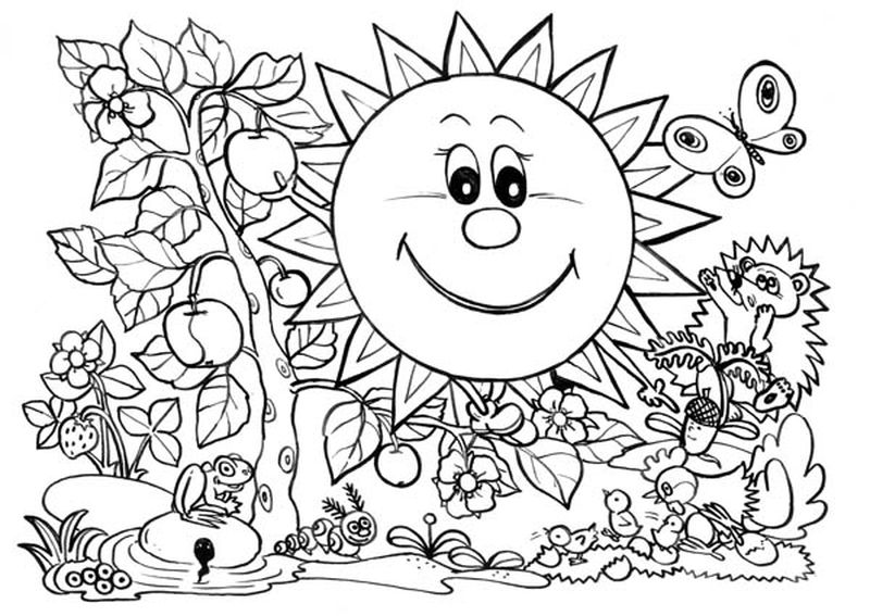 earth and sun coloring pages