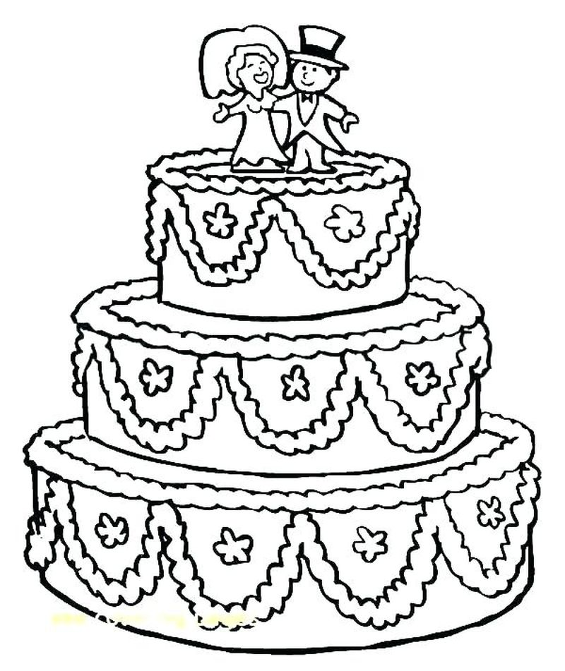 easter cake coloring pages