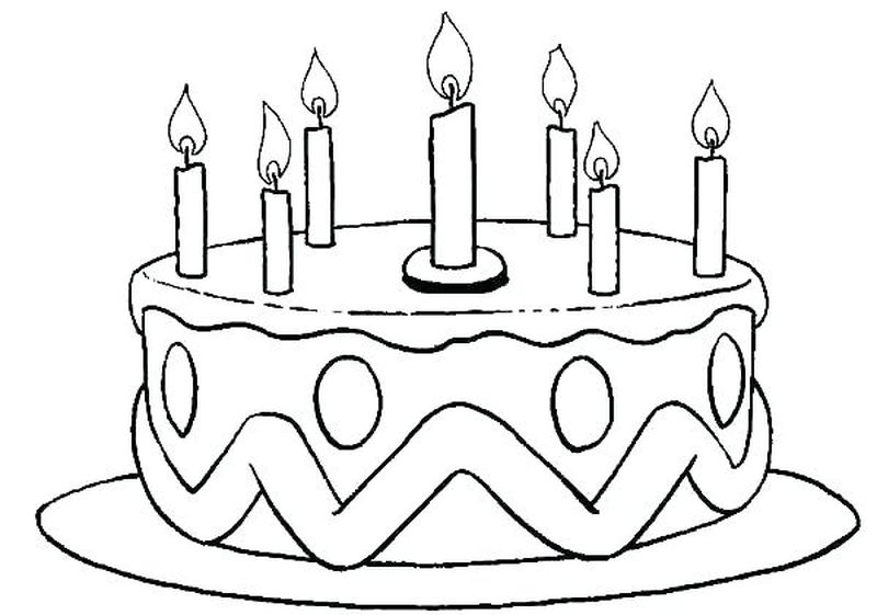 easy cake coloring pages