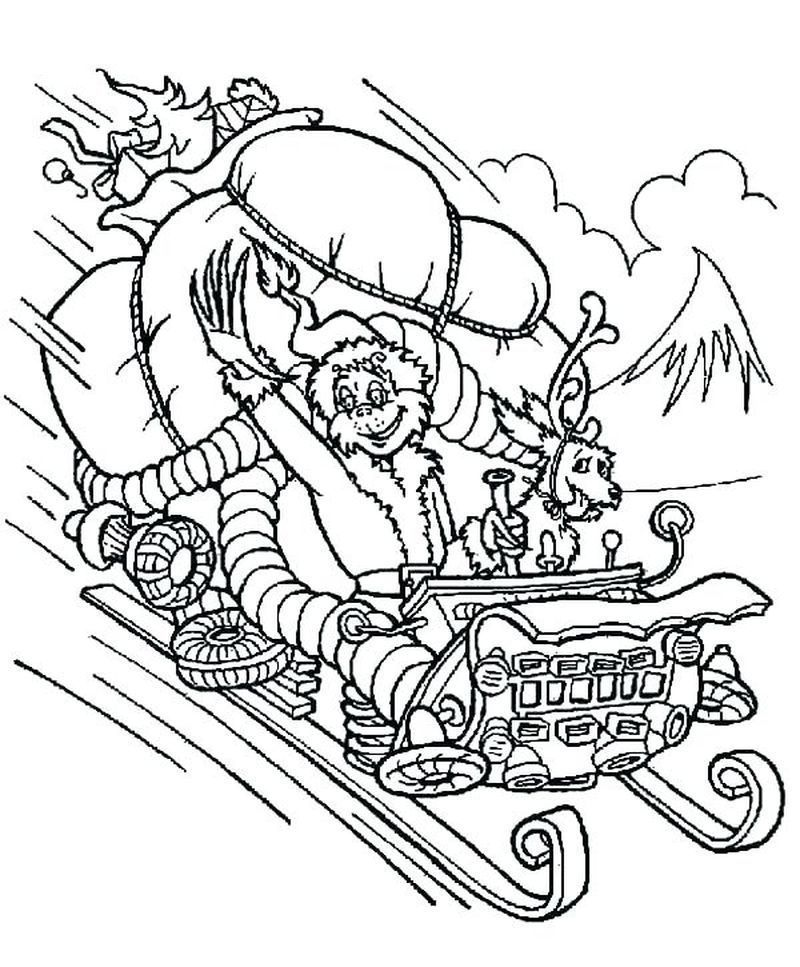 easy grinch coloring pages