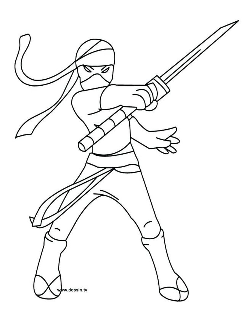 easy ninja turtle coloring pages