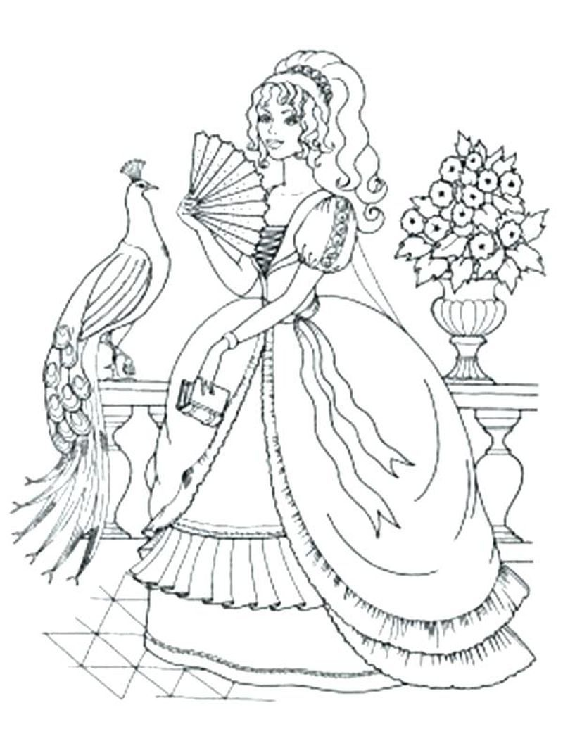 easy peacock coloring pages to print