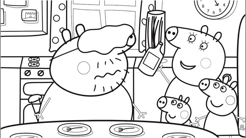 easy peppa pig coloring pages