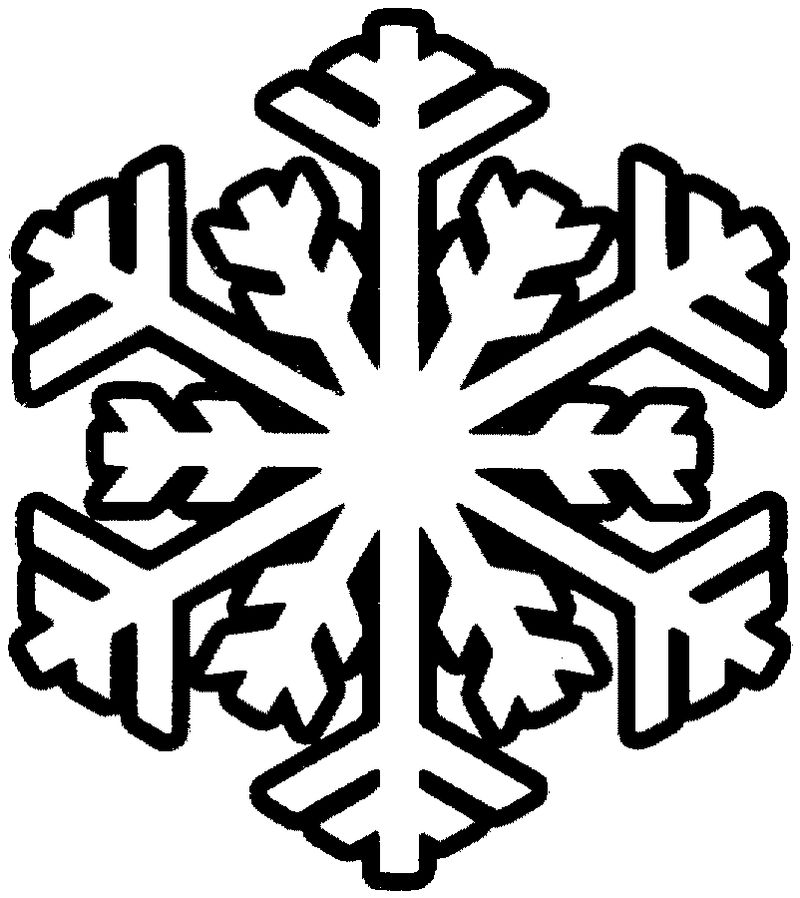 easy snowflake coloring pages