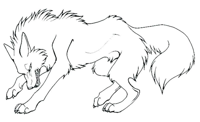 easy wolf coloring pages realistic
