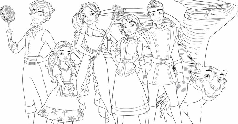 elena from avalor coloring pages