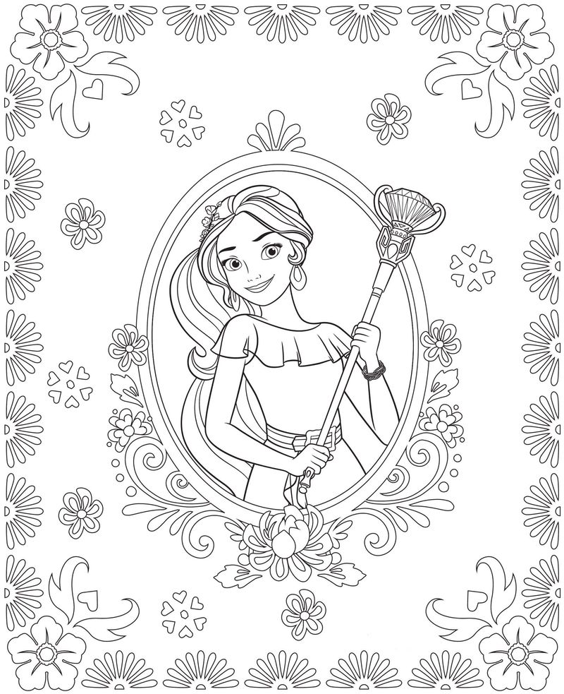 elena of avalor coloring pages free printable