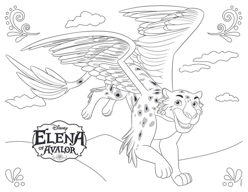 elena of avalor colouring pages to print