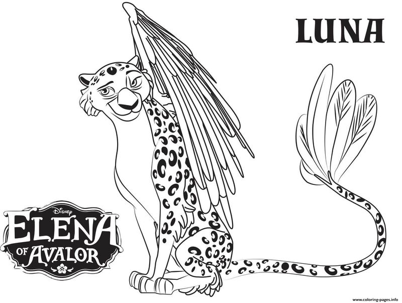 elena of avalor isabel coloring page