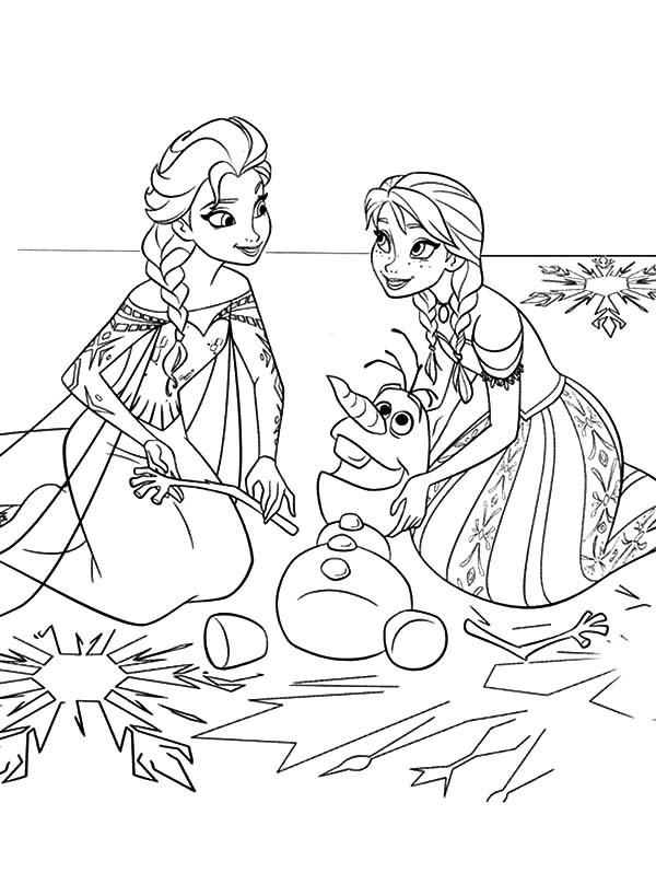 elsa and olaf coloring pages