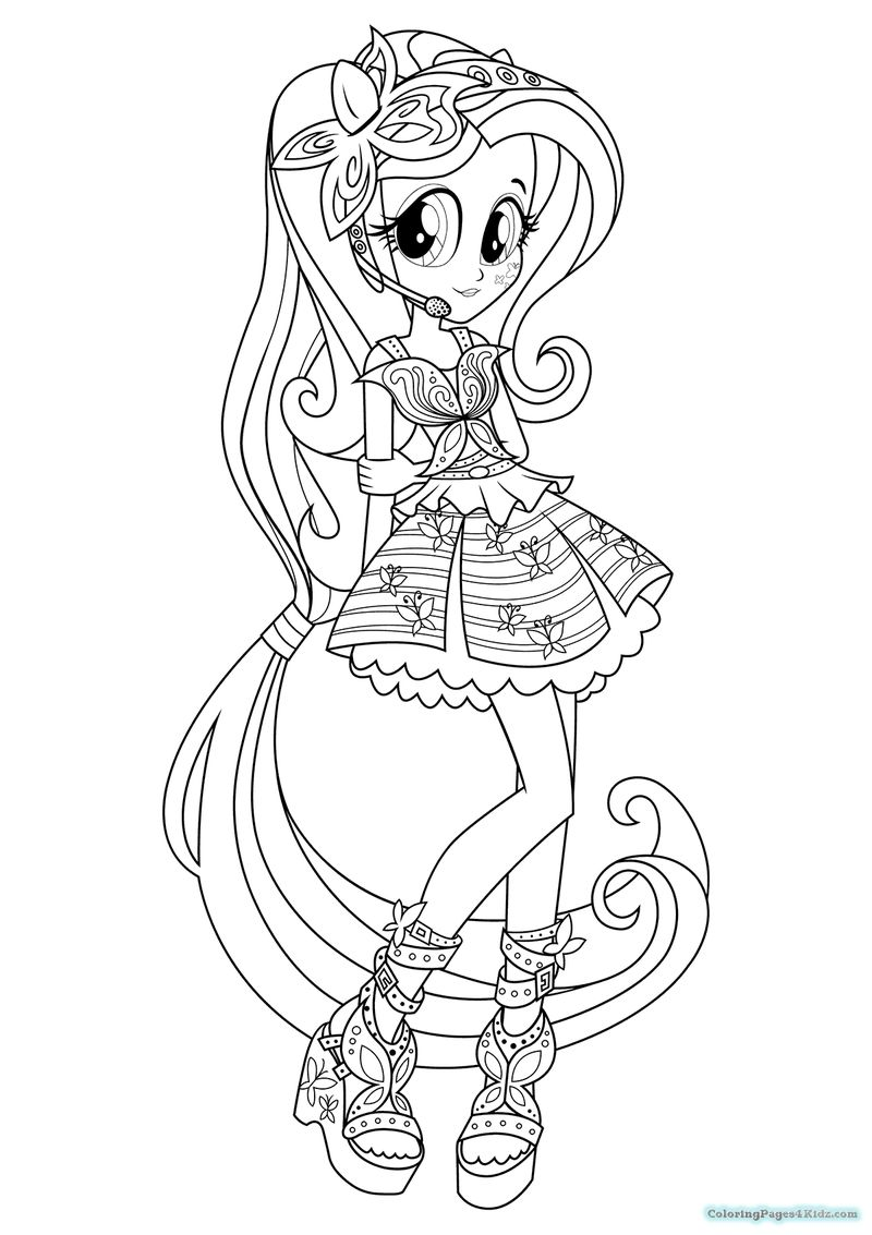 equestria girl coloring page
