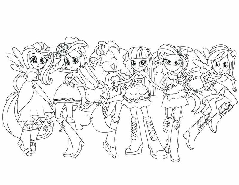 equestria girl coloring pages to print