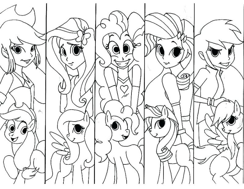equestria girl colouring pages
