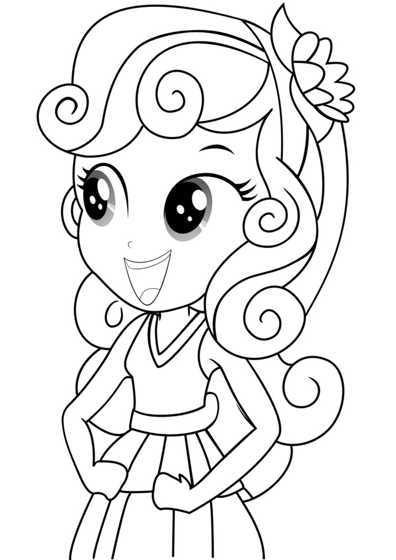 equestria girl fluttershy coloring pages