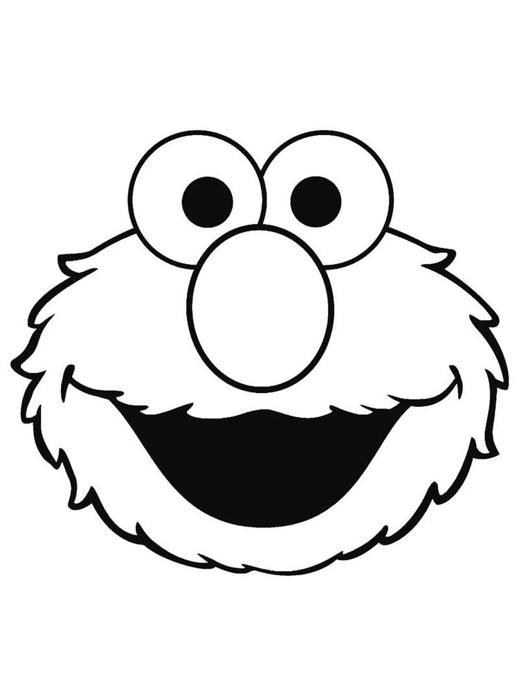face coloring pages free elmo