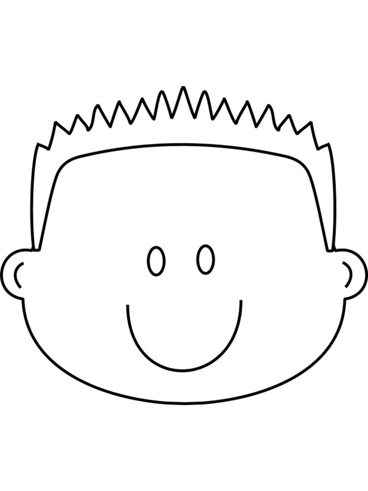 face coloring pages printable free 1