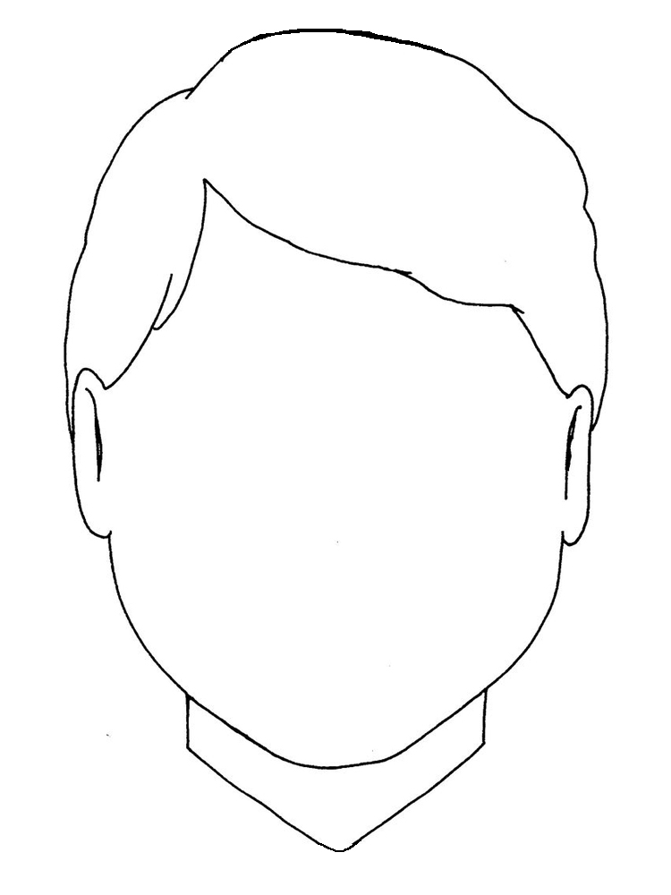 face coloring pages printable free
