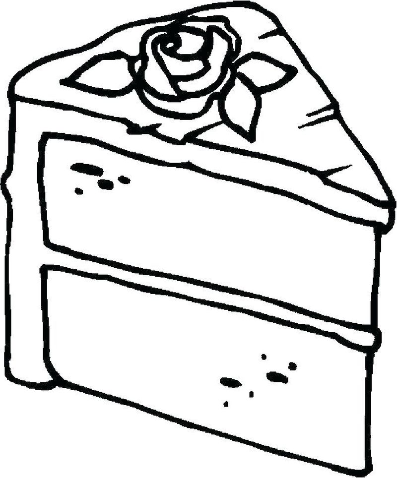 fancy cake coloring pages