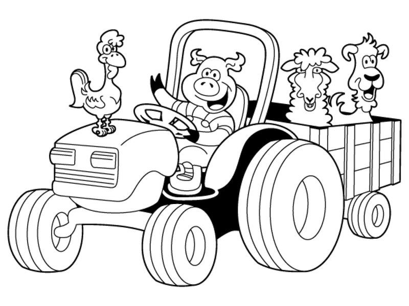 farm animal coloring pages for adults