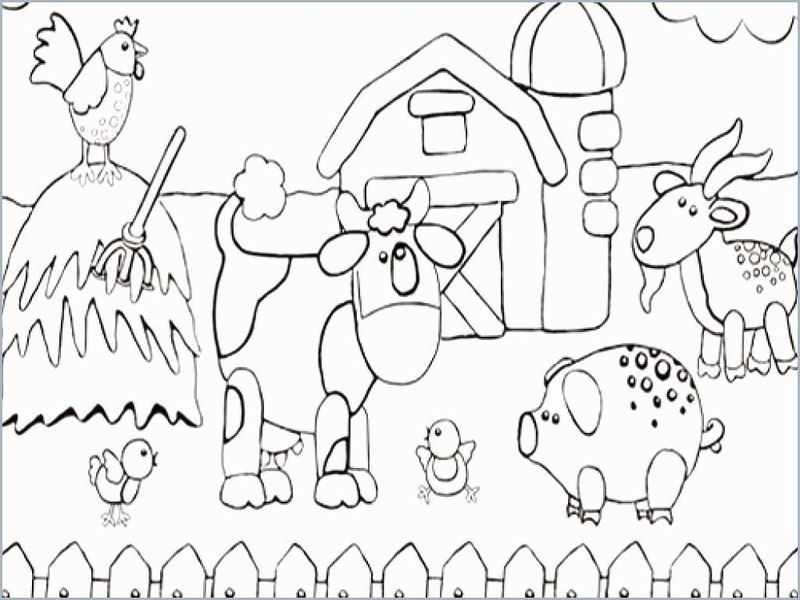 farm animal coloring pages for kindergarten