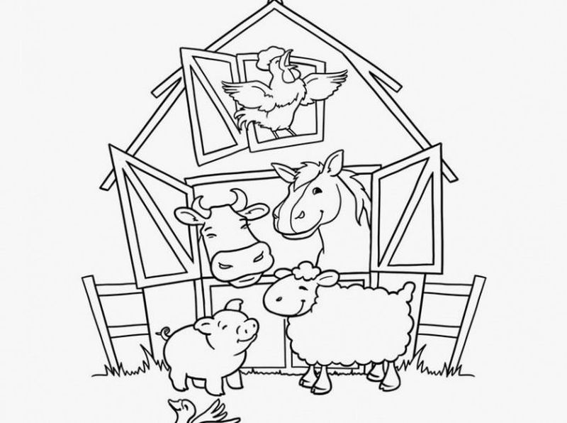 farm animal coloring pages free