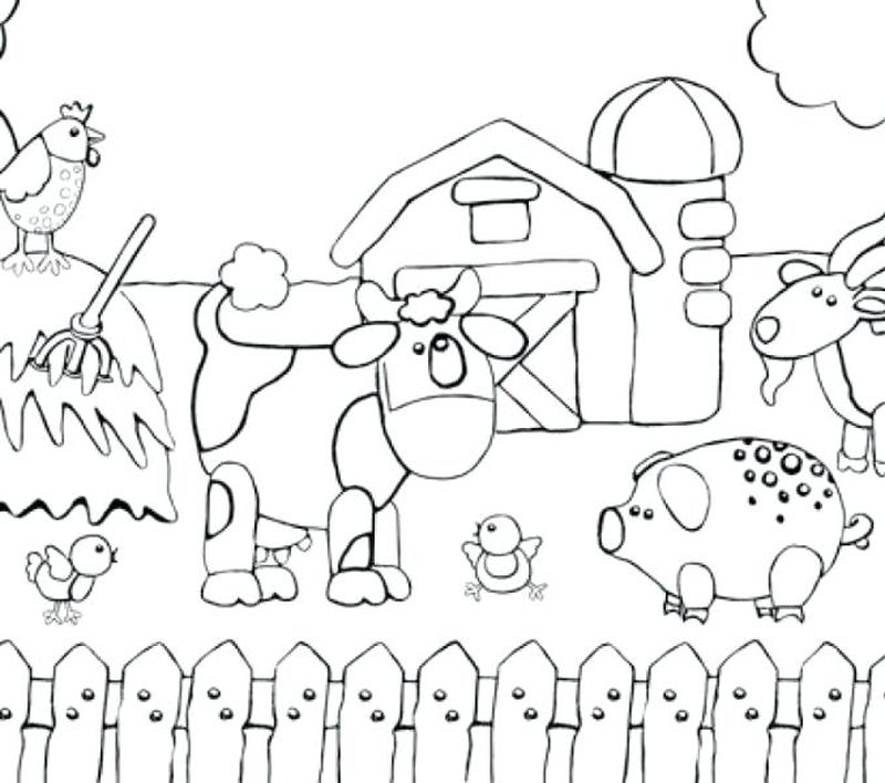 farm animals coloring pages printable
