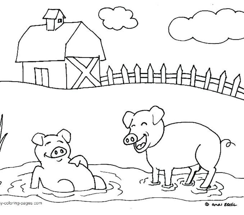 farm coloring book pages