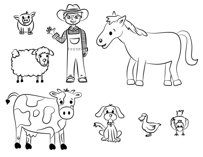 farm coloring pages easy