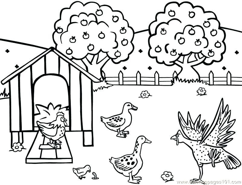 farm coloring pages for preschoolers free