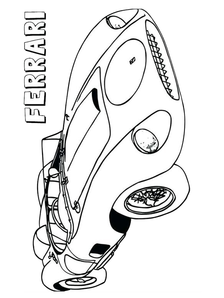 ferrari car coloring pages