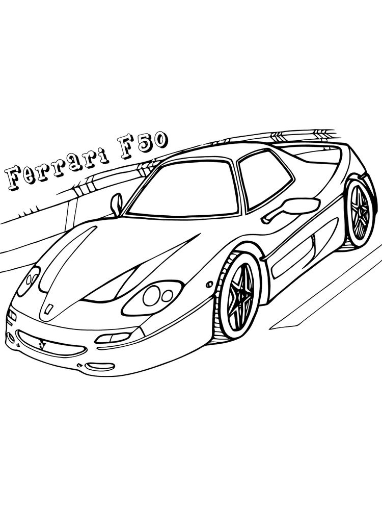 ferrari coloring pages printable free
