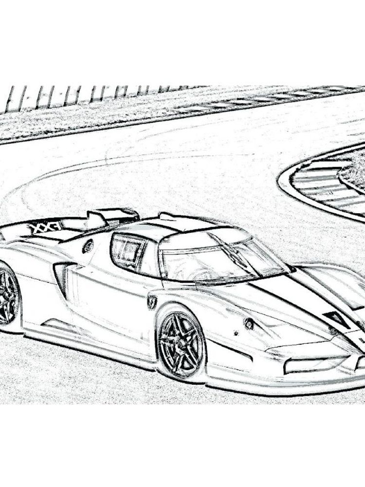 ferrari coloring pages printable