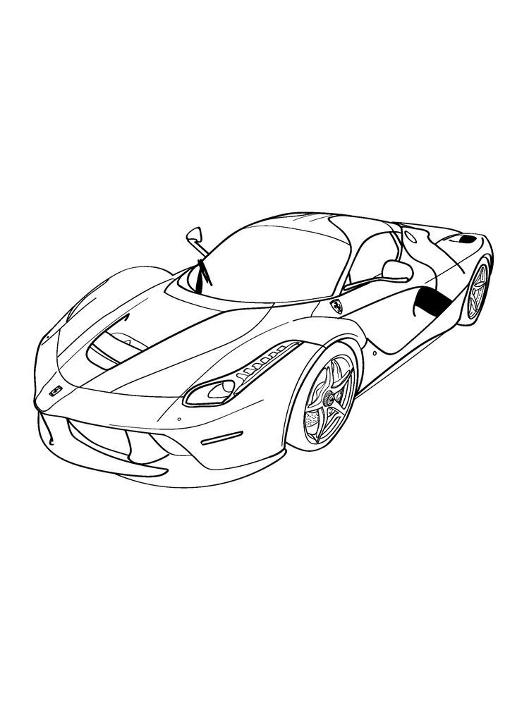 ferrari coloring pages to print