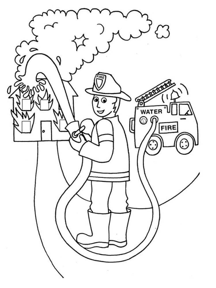 fire coloring pages printable free