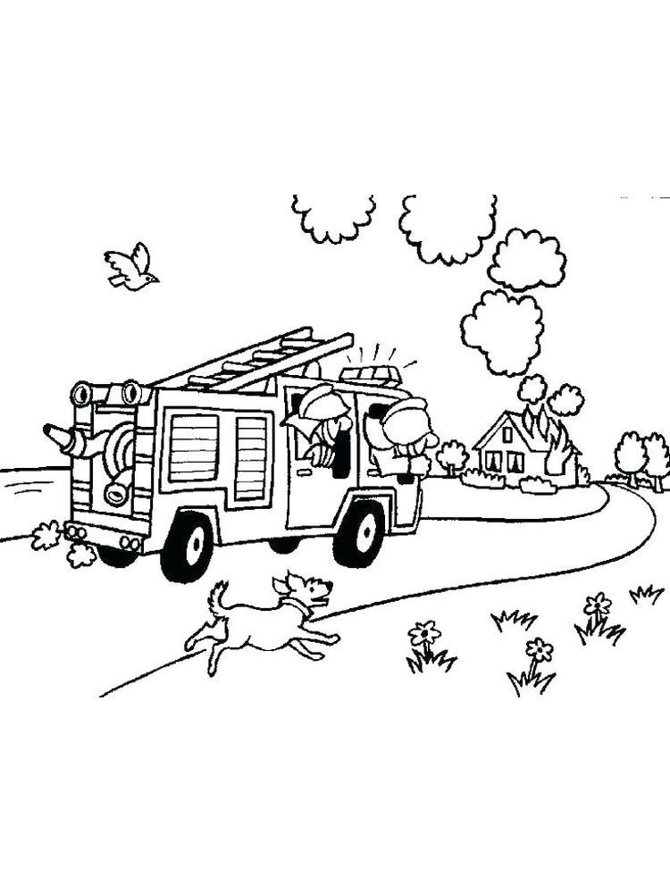 fire coloring pages to print pdf free