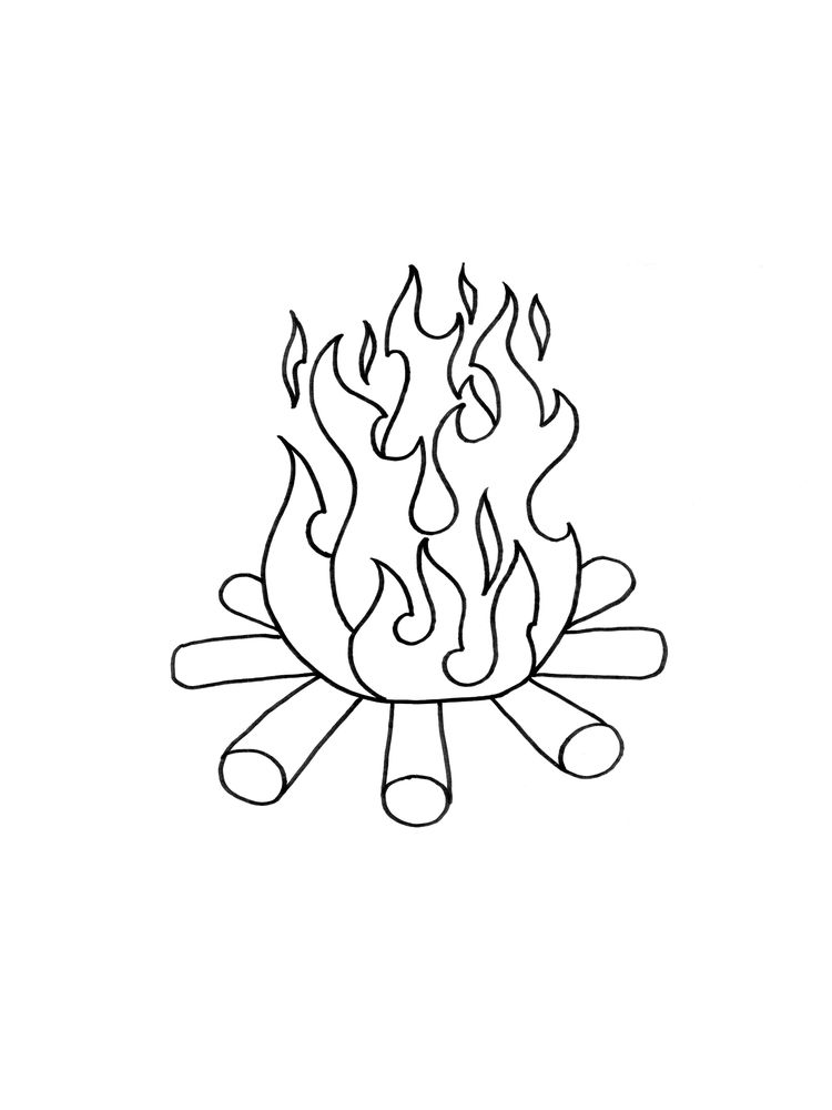 fire printable coloring page pdf