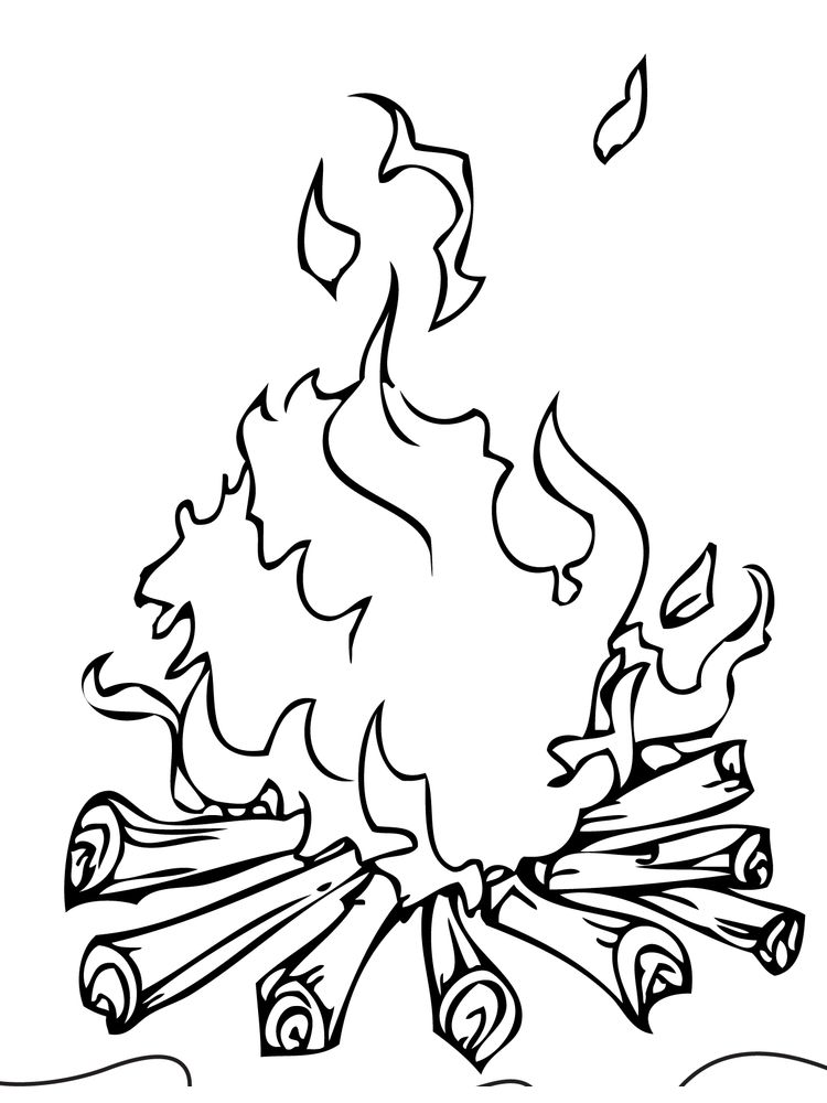 fire safety coloring page printable