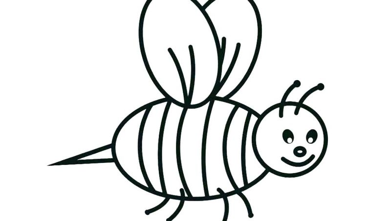 flower and bee coloring pages