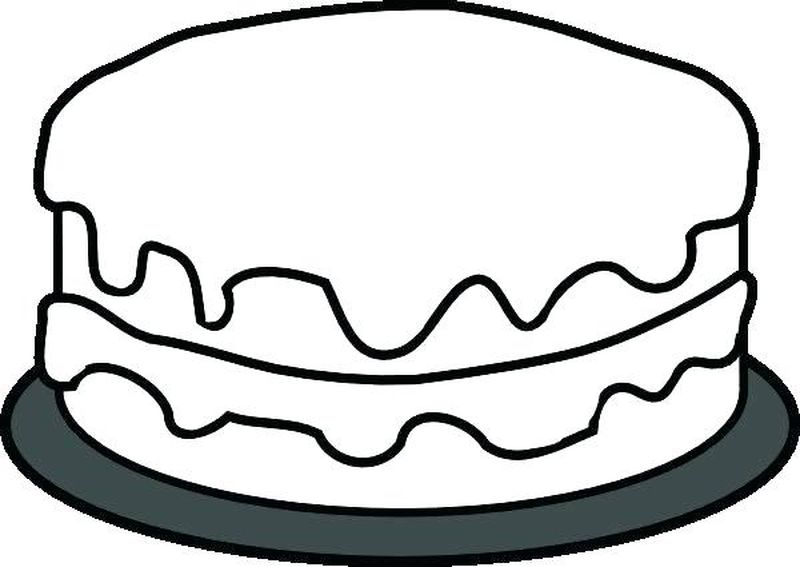 flower cake coloring pages