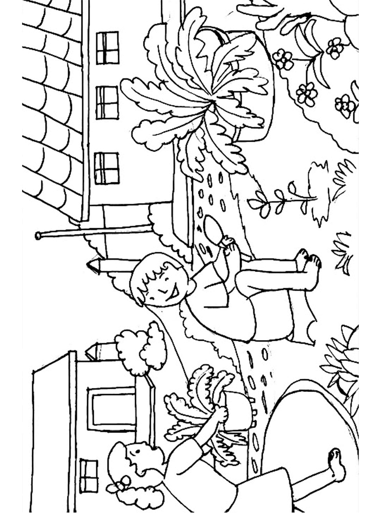 flower garden coloring pages download