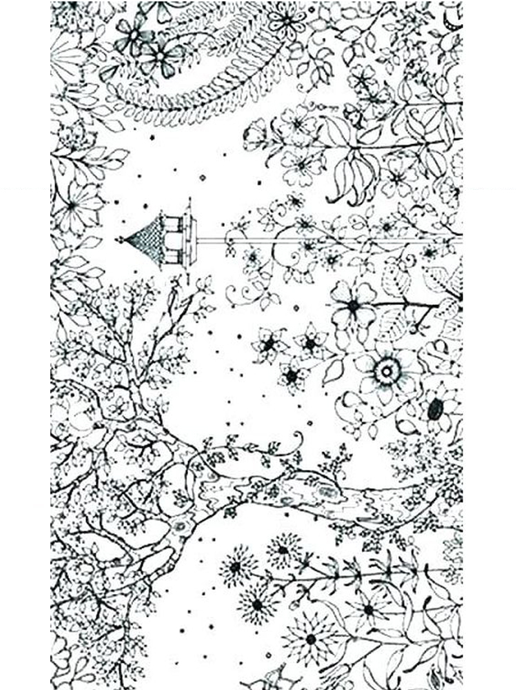 flower garden coloring pages for adults