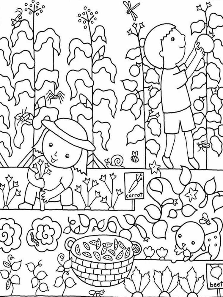 flower garden coloring pages free online