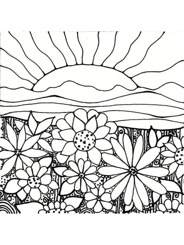 flower garden coloring pages free