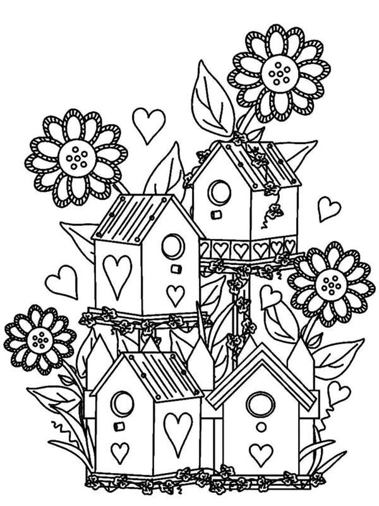 flower garden coloring pages image