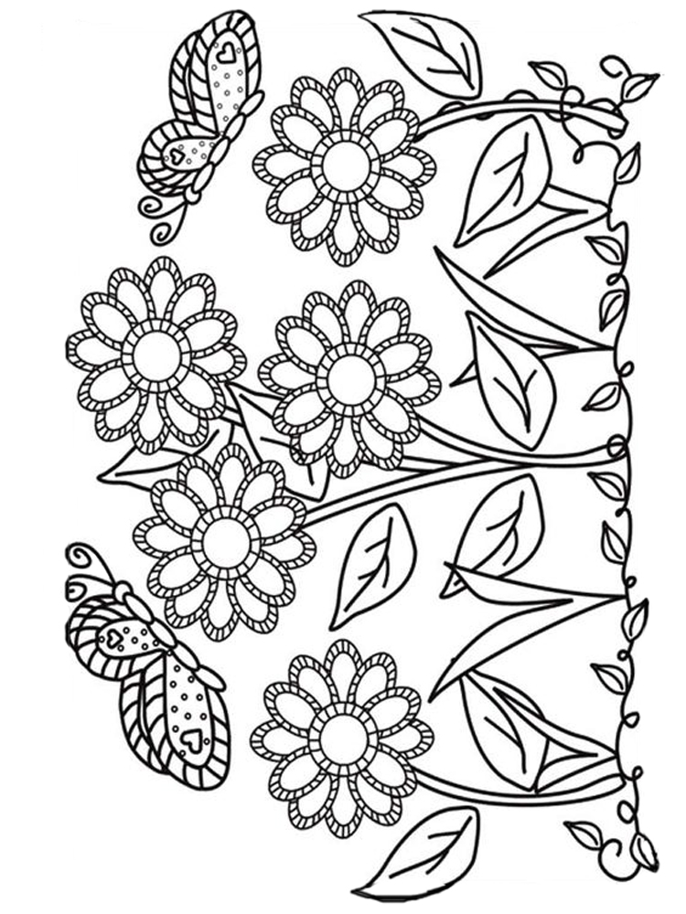 flower garden coloring pages pdf