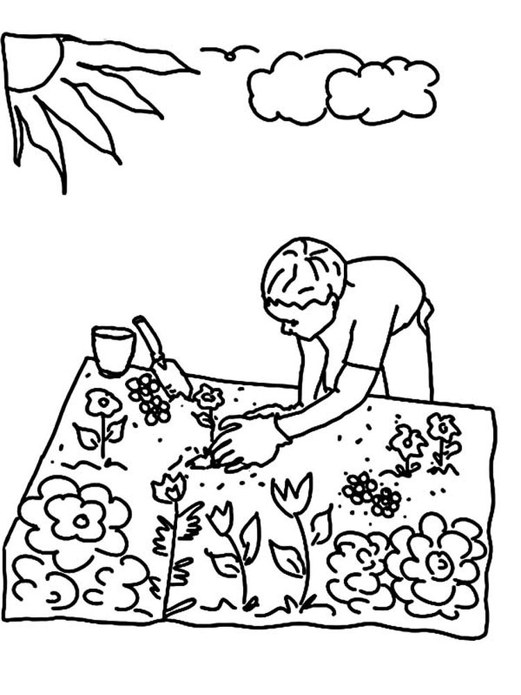 flower garden coloring pages pict